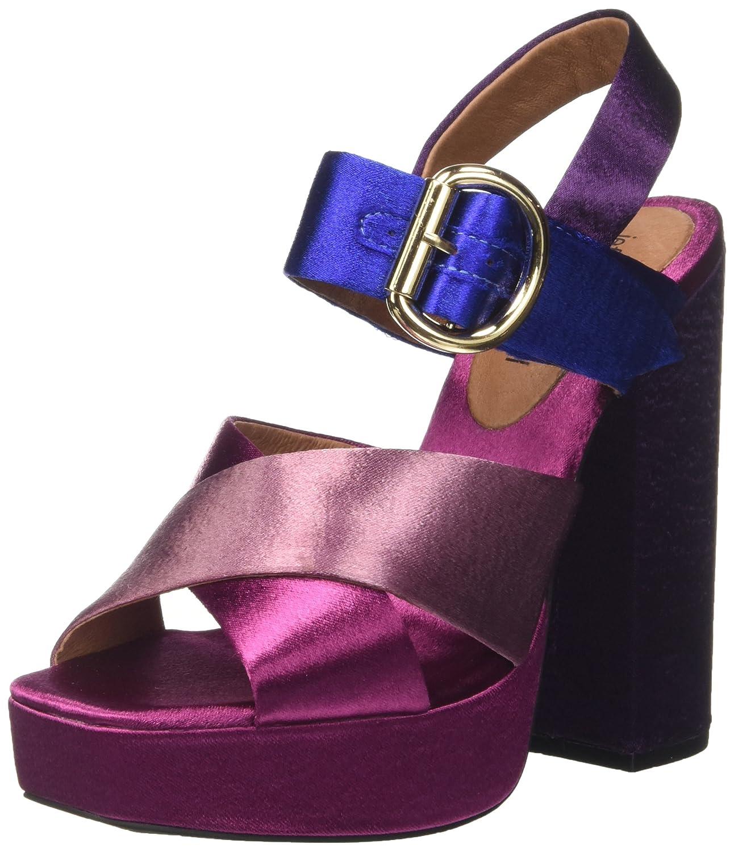 Jeffrey Campbell Evina, Sandali con Tacco Donna Multicolore (Pink /Fucsia/Purple Blue)