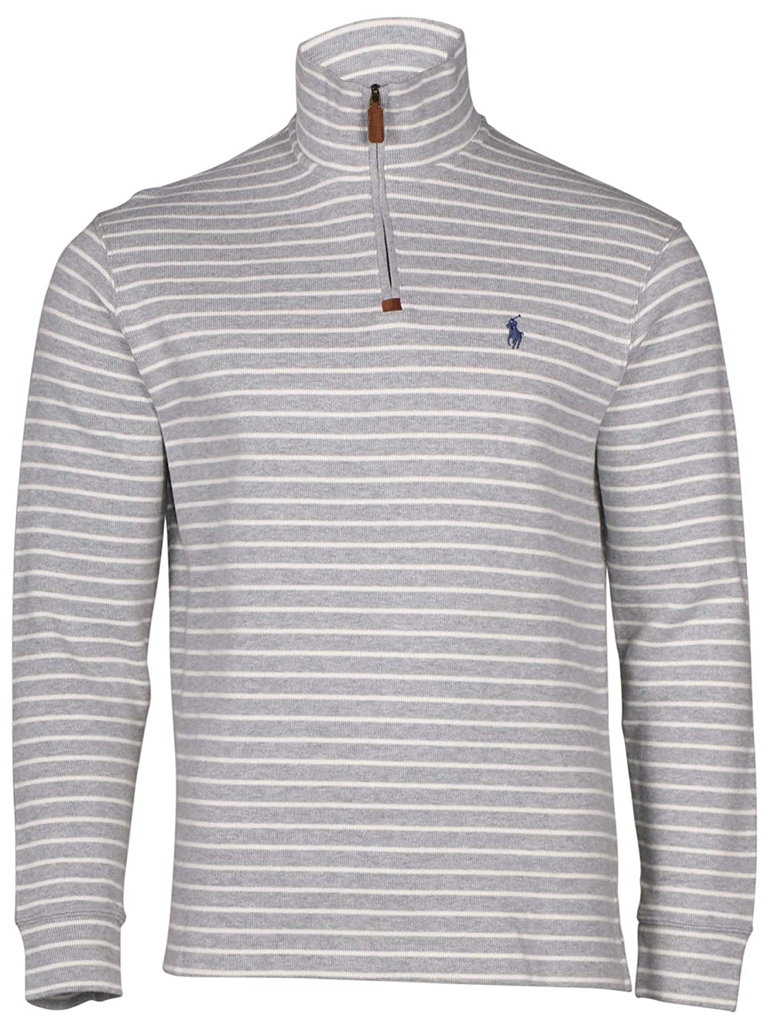 Polo Ralph Lauren Men's Half Zip Ribbed Mock Neck Sweater