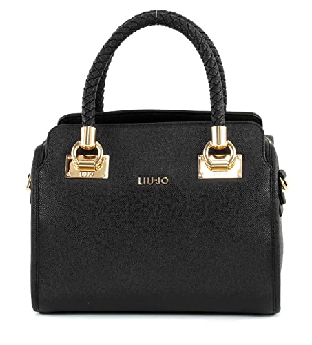 reputable site d6e42 ddb96 Liu Jo Bauletto Anna Handlebag 33 cm nero: Amazon.co.uk: Luggage