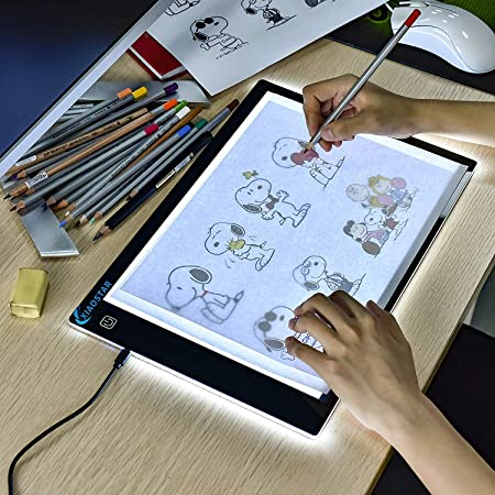Portable A4 LED Light Pad Box Drawing Tablet Tracing Tracer Copy Board Table Pad