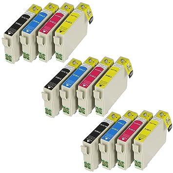 12 XL Cartuchos de impresora con chip e indicador de nivel ...