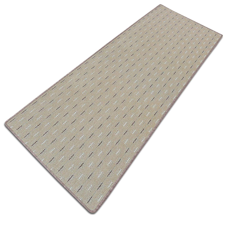 Casa pura Teppich Läufer Läufer Läufer Glasgow   Meterware   Teppichläufer für Wohnzimmer, Flur und Küche   Flach Gewebt   mit Stufenmatten Kombinierbar (Braun - 100x350 cm) 75e33f