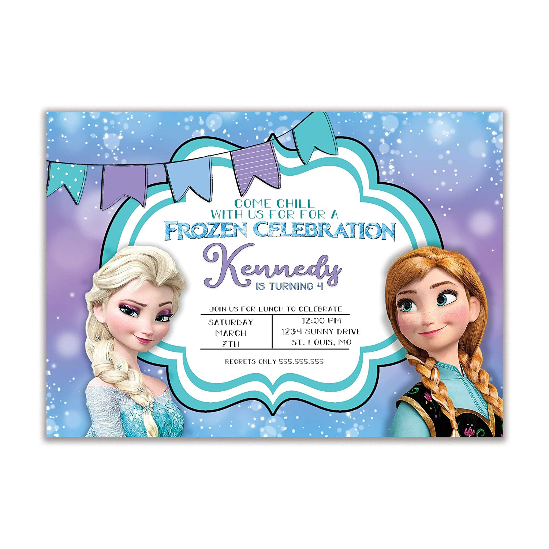 Personalised Frozen Olaf Boy//Girl Birthday Party Invites inc envelopes OF