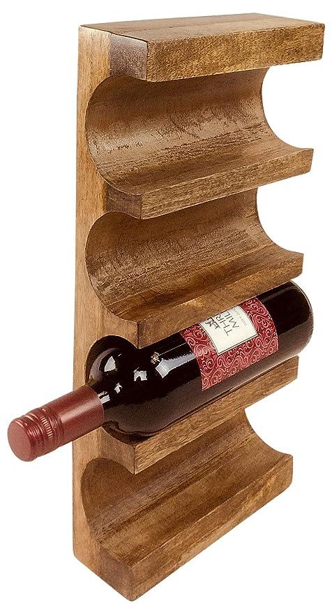 Geko Wall Mounted Wooden Wine Rack Wood Brown One Size Amazonco