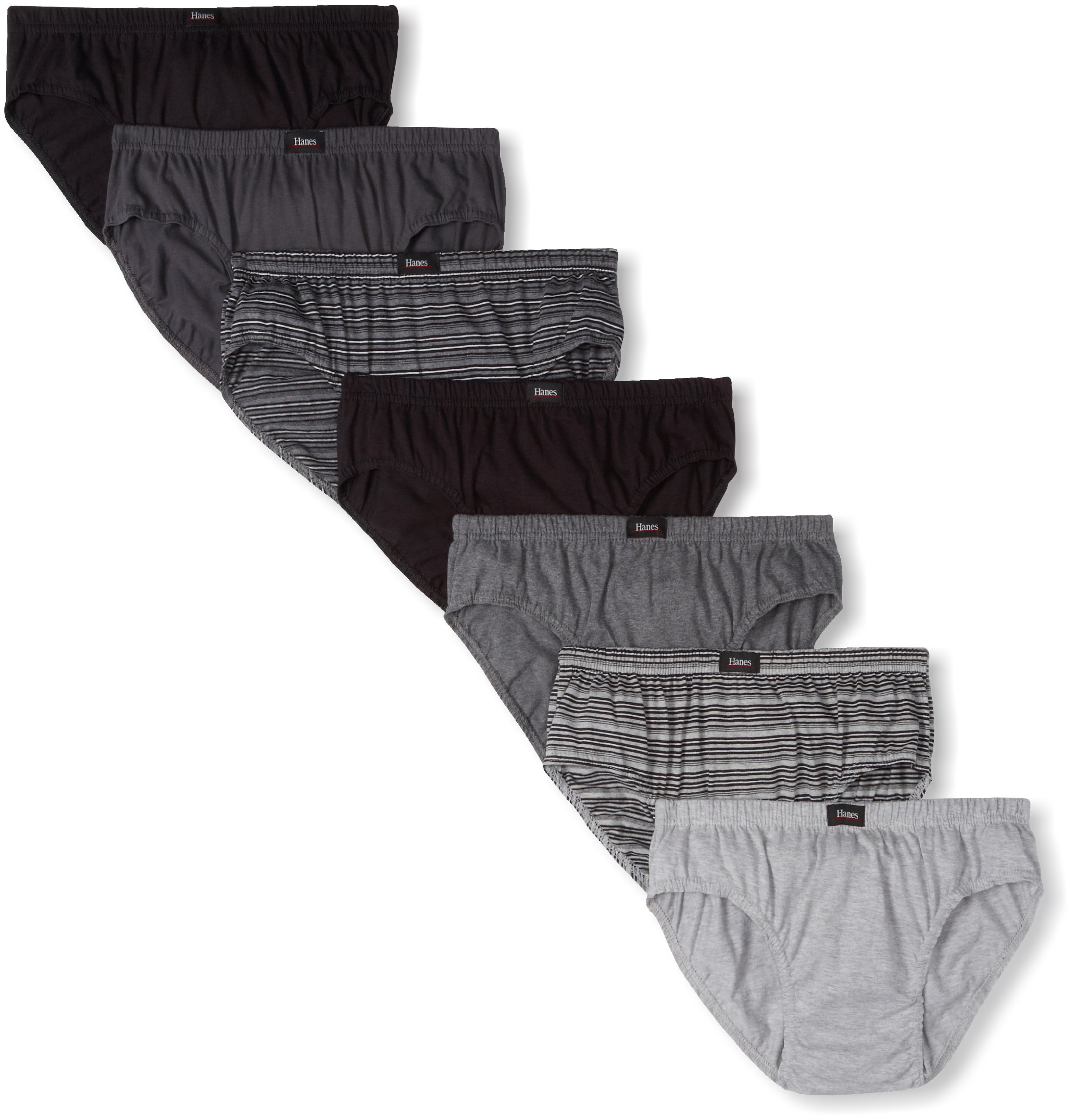 Hanes Ultimate Men's Classics 7-Pack Comfort Soft Sport Brief - Assorted Colors, Assorted, Large