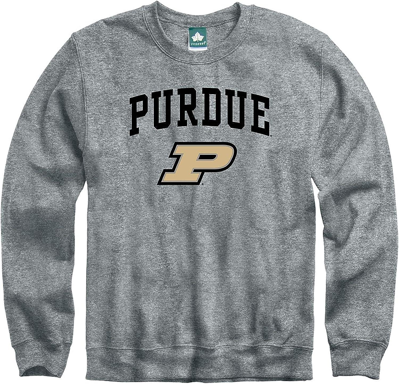 NCAA Colleges and Universities Heritage Logo Grey Ivysport Crewneck Sweatshirt Cotton//Poly Blend