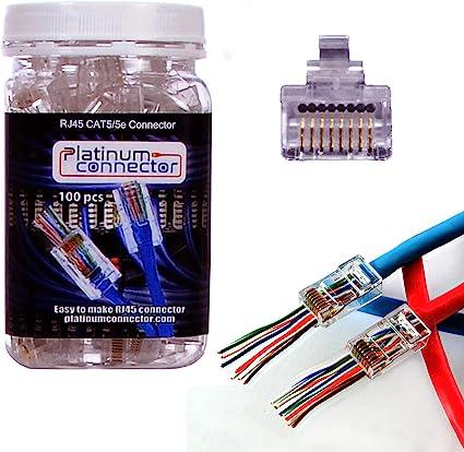 ideal rj45 wiring diagram amazon com platinum connector rj45 cat5 5e 100 pieces end pass  platinum connector rj45 cat5 5e 100