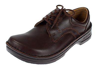 Footprints by Birkenstock Derby Leather Shoe (35 EUUS Women 4, Dark Brown