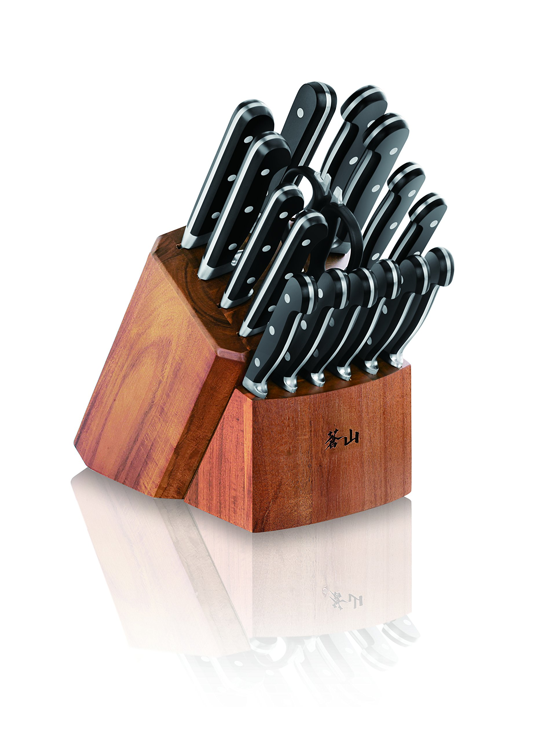 Cangshan V2 Series 1022551 German Steel Forged 17-Piece Knife Block Set , Acacia by Cangshan (Image #8)