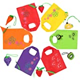 CoZroom Reusable Grocery Shopping Tote Bags, Handy for Shopping Travel--Pack of 6