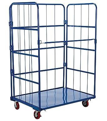 VESTIL Lei jaula de alambre de acero carro, azul, 1 Shelf, 880 Lbs ...