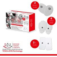 TENS Unit Pads - Premium Quality Snap Replacement Electrodes for TENS and EMS Electrotherapy - Self Adhesive Reusable Patches up to 30 Times (20 Pads) Combo (S, L, XL)