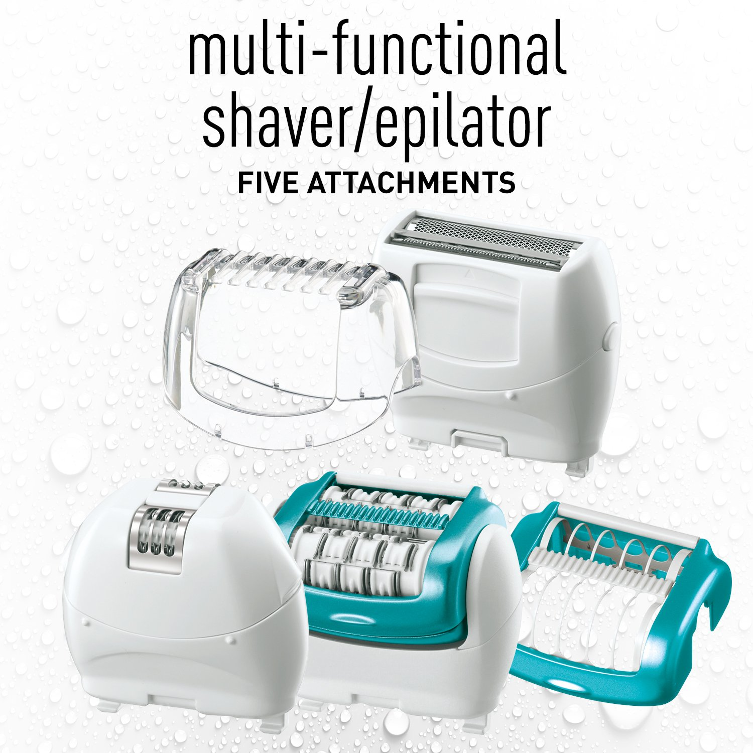 Panasonic ES-ED70-G Multi-Functional Wet/Dry Shaver and Epilator for Women, with Five Hair Removal Attachments and Travel Pouch by Panasonic (Image #1)