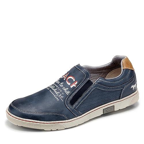 Mustang Herren Slipper, Mokassins, Blau, 630519-5, Gr 44: Amazon.es: Zapatos y complementos