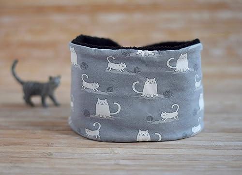 Braga de cuello con gatos con polar en el interior, ajustable en ...