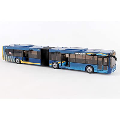 """Daron MTA New York City Bus 16"""" Articulated Bus RT8571 Toy, Brown: Toys & Games"""