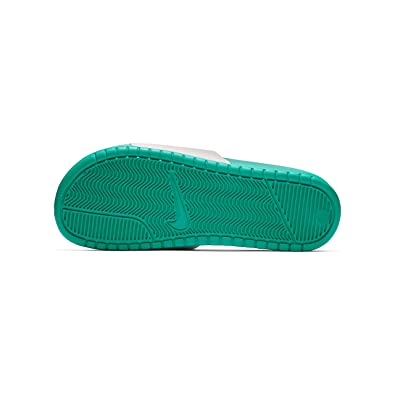 detailed look 2ce15 f47b2 Nike Men s Benassi Just Do It Slide Sandal, Hyper Jade Black-White,
