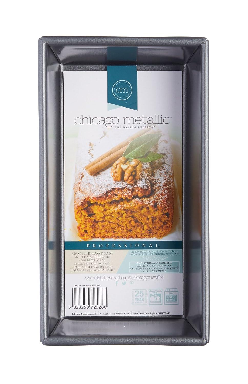 Kitchencraft Chicago metálico Profesional Antiadherente Molde Rectangular de, Gris, 21,5 x 11,5 x 7 cm: Amazon.es: Hogar