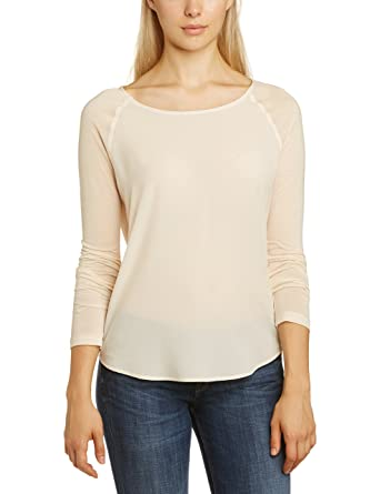 2112f84d39d Amazon.com: French Connection Women's Polly Plains Long-Sleeve Top: Clothing