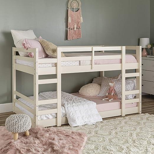 Amazon Com Walker Edison Furniture Company Wood Twin Bunk Kids