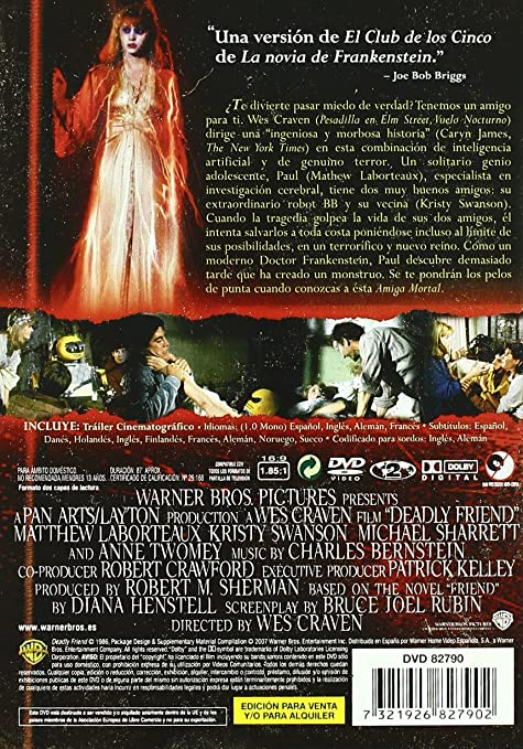 Amiga mortal [DVD]: Amazon.es: Matthew Laborteaux, Michael Sharrett, Anne Twomey, Kristy Swanson, Wes Craven: Cine y Series TV