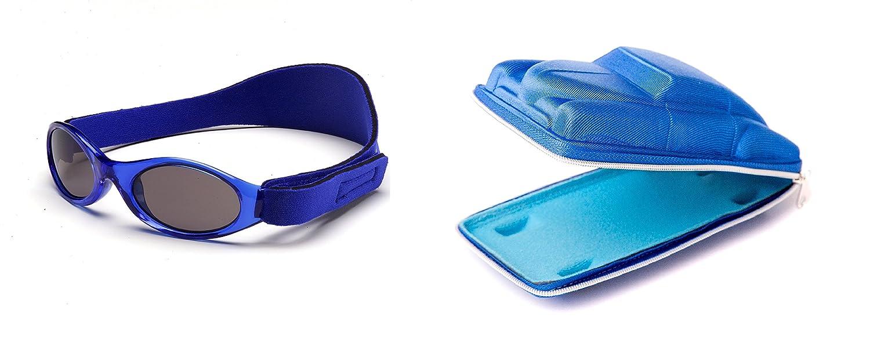 Childrens Gift Pack Kidzbanz Blue sunglasses and Blue Cuban Car case 2 - 5 years ComboK2 0202/cubancar-01A/B
