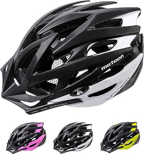meteor® Casco Bicicleta Helmet de Bici para jóvenes y Adultos para Ciclismo MTB Road Race Montaña BMX Carretera y Otras Formas de Actividad Ciclista Casco Protección Unrest: Amazon.es: Deportes y aire libre