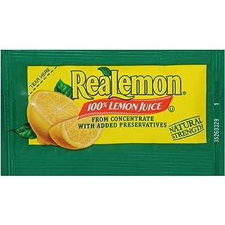 REALEMON Single Serve Lemon Juice, 4 gr. (Pack of 200)