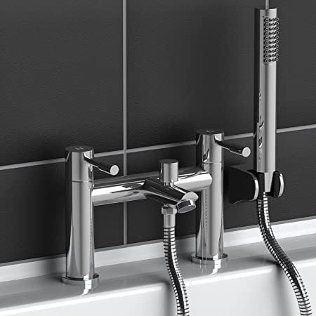 Iocas Bath Mixer Tap with Shower Attachment: Amazon.co.uk: Kitchen ...
