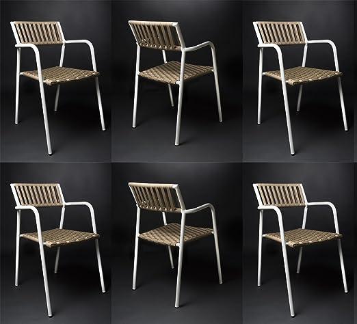 Rosa Splendiani Set 6 Sedie Design Gilda in Alluminio e