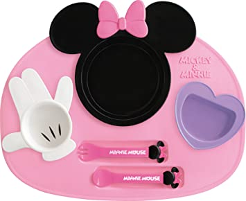 Nishiki Kasei Meal Is Fun Minnie Mouse Icon Lunch Plate