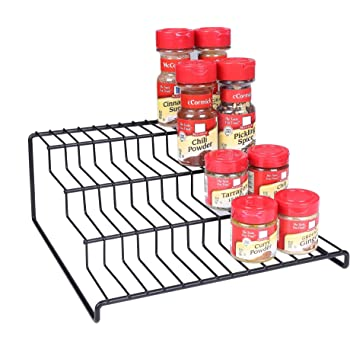 Edenware Spice Rack And Stackable Shelf Extraordinary Amazon Spicy Shelf Spice Rack And Stackable Organizer Home