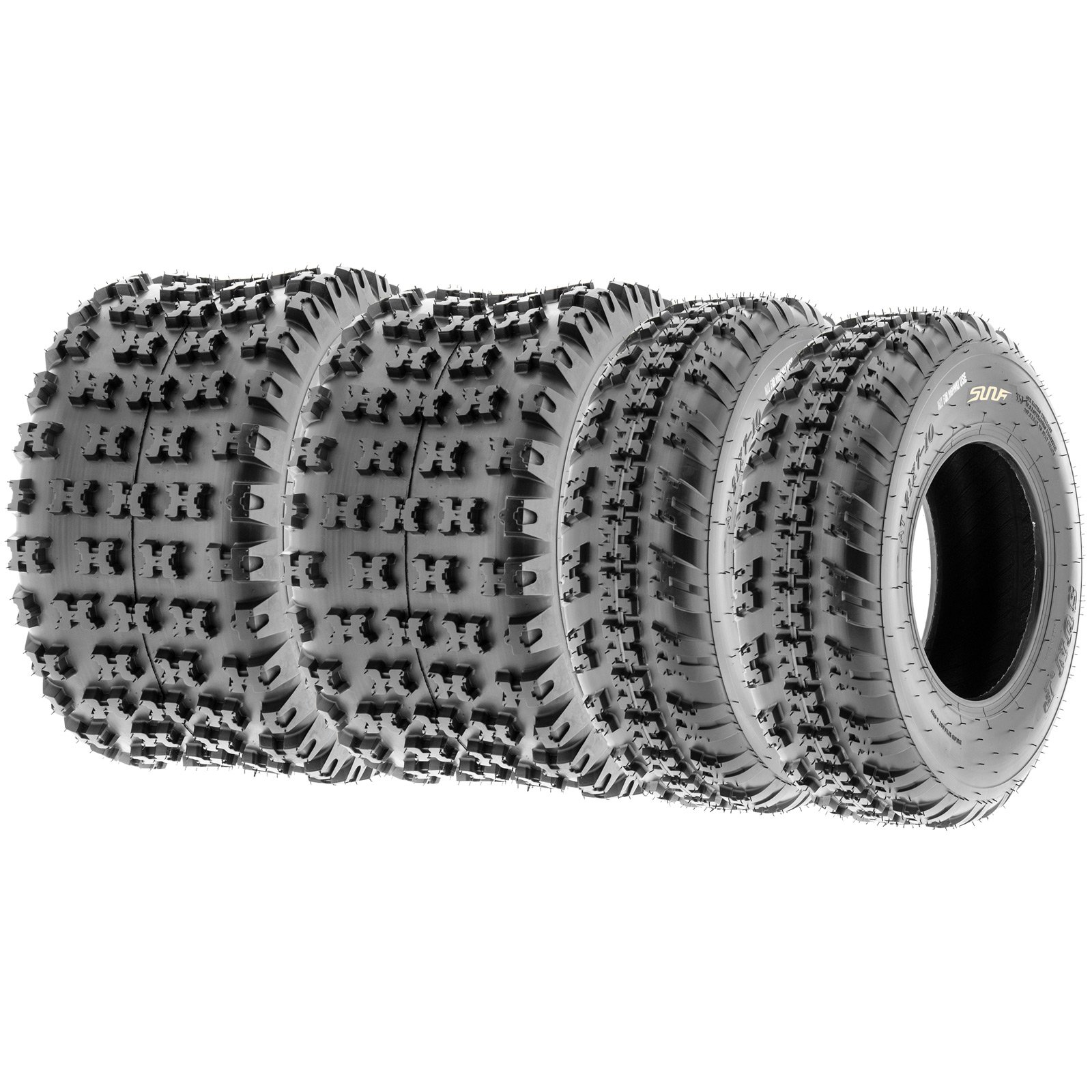 SunF Knobby Sport ATV Tires 20x6-10 & 18x10-8 4/6 PR A031 (Complete set of 4) by SunF (Image #1)