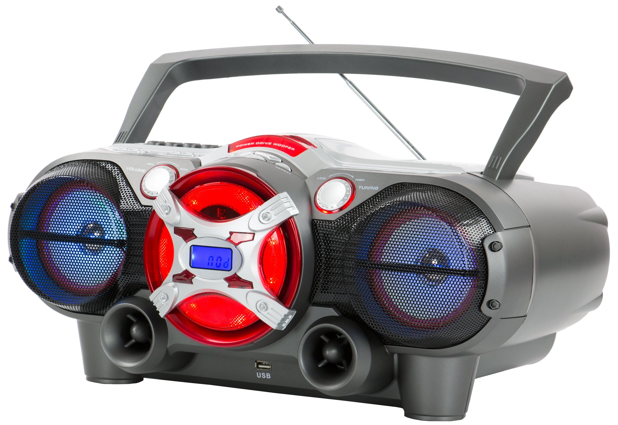 QFX J-50U Portable Jumbo Bluetooth Boombox Radio with MP3/CD Player and Cassette Recorder by QFX