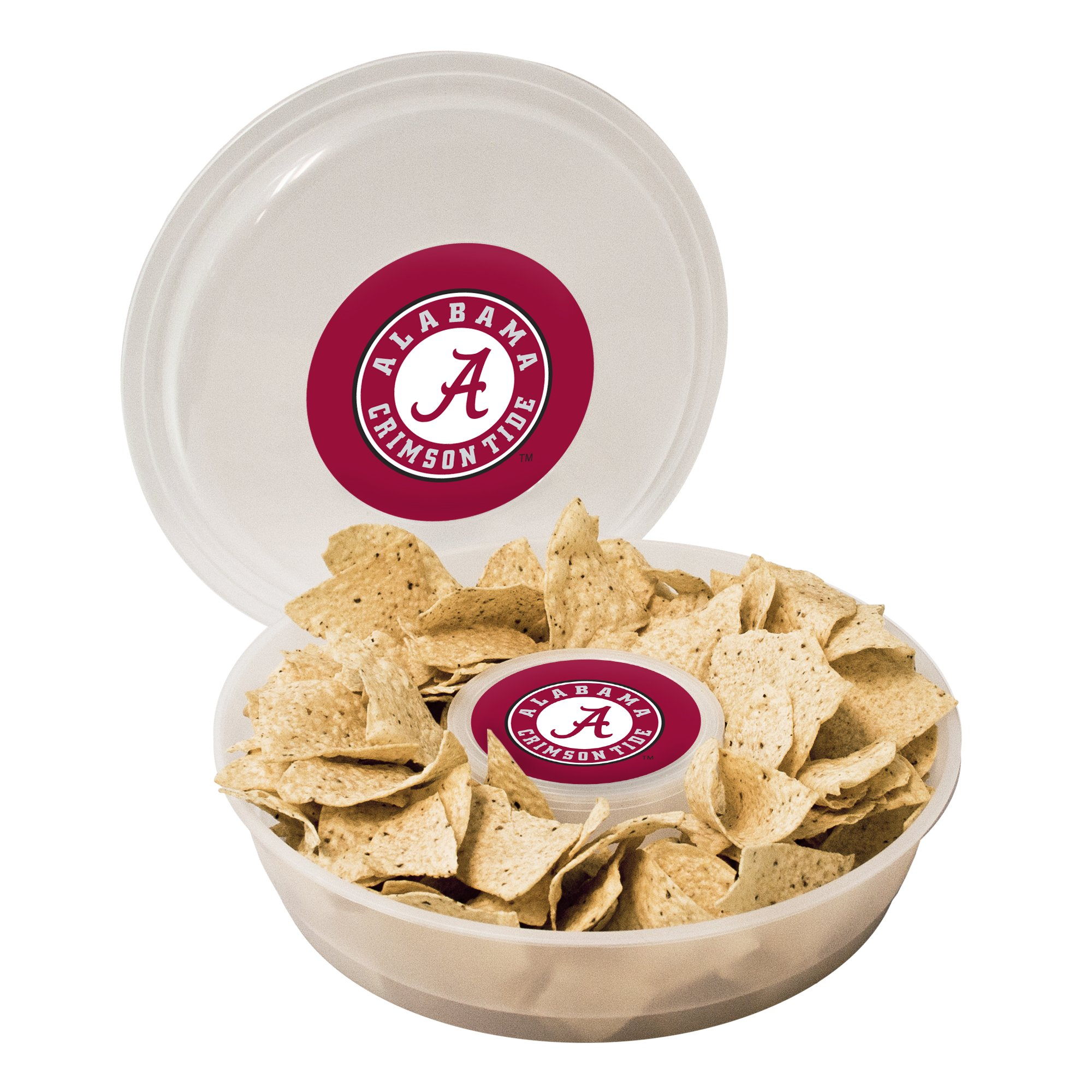 NCAA Alabama Crimson Tide Plastic Chip and Dip Container