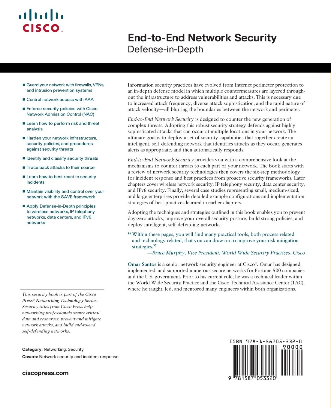 Buy End-to-End Network Security: Defense-in-Depth Book Online at Low