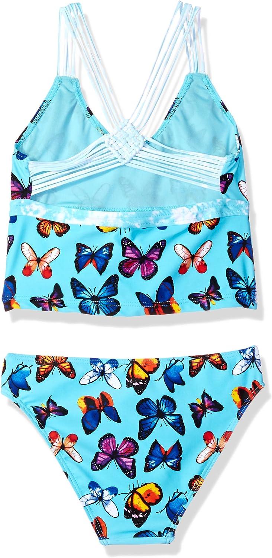 VIGOSS Girls Big Butterflies are Free Tankini