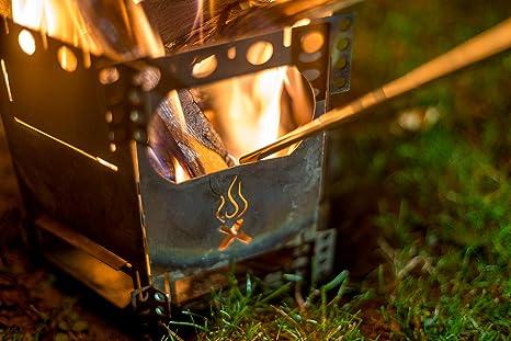 WIKA Tubo telescópico de soplado de acero inoxidable, versión exclusiva, para exteriores, supervivencia, gadget, camping, barbacoas, pipa, fuego fácil ...
