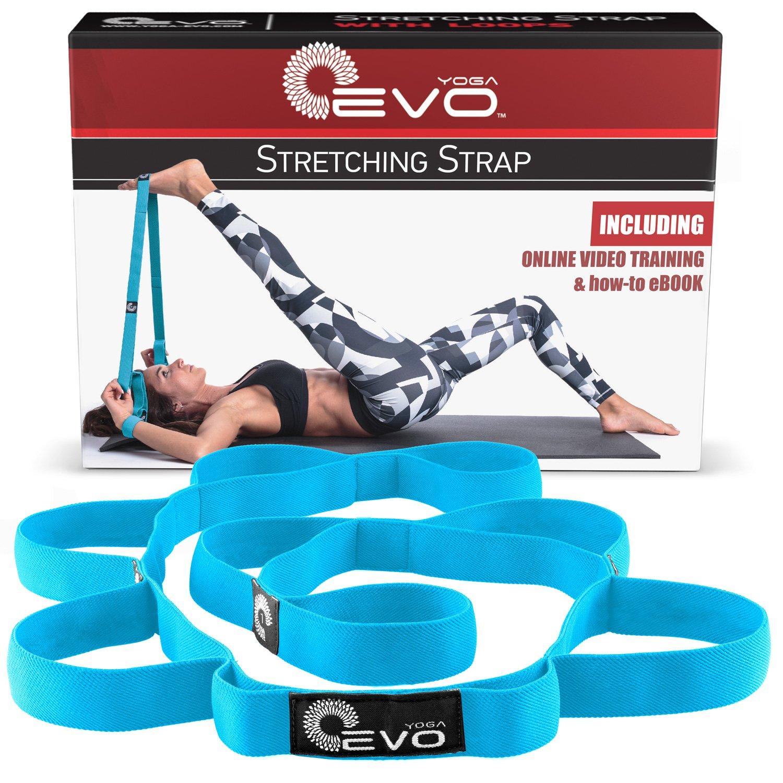 Yoga Evo estiramiento correa elástica con trabillas + Ebook y ...