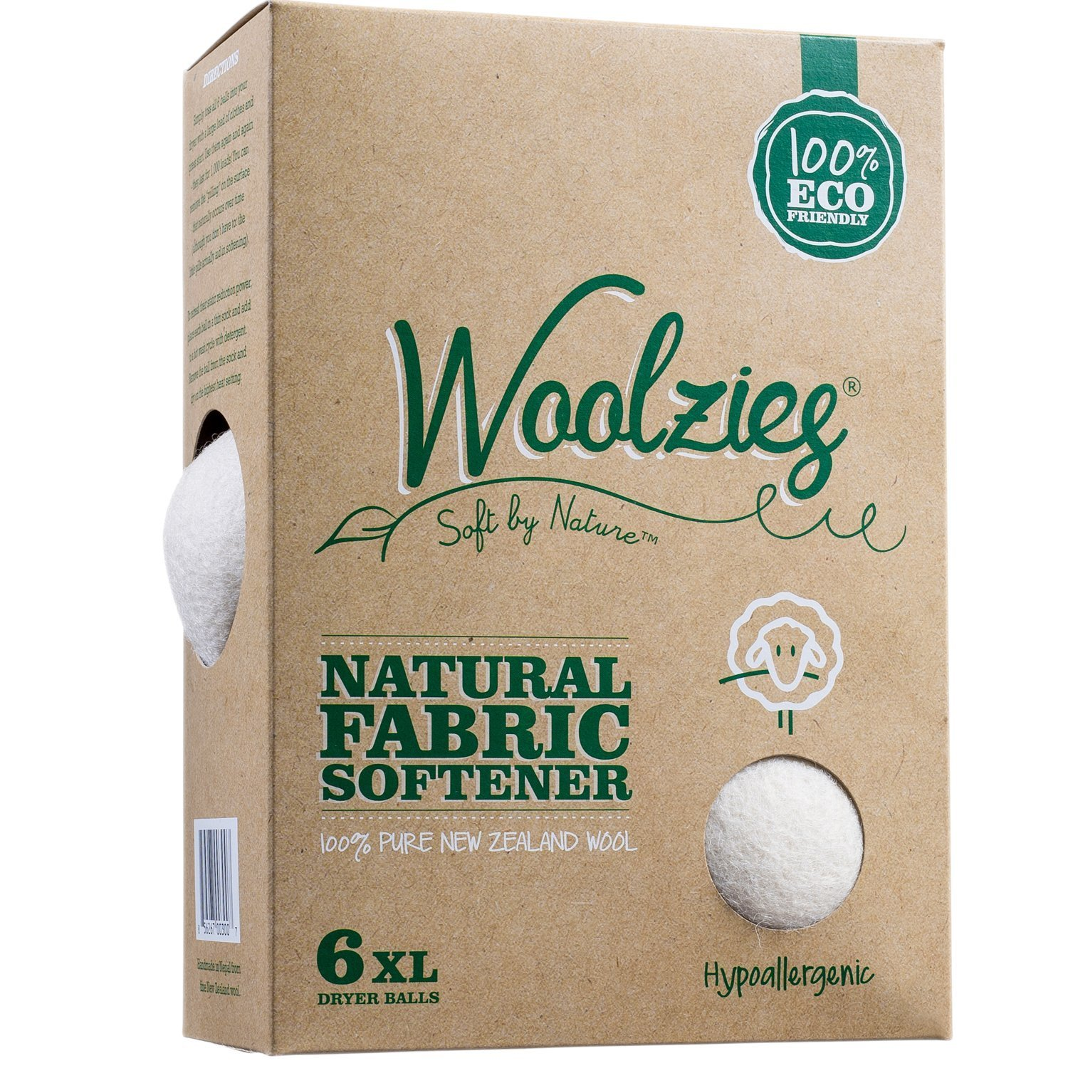 Amazon.com: Woolzies, the Original Highest Quality Wool Dryer Balls Set of  6 Xl,Best Natural Fabric Softener, Gift Set: Health & Personal Care