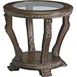 Signature Design by Ashley - Charmond Traditional Round End Table, Brown