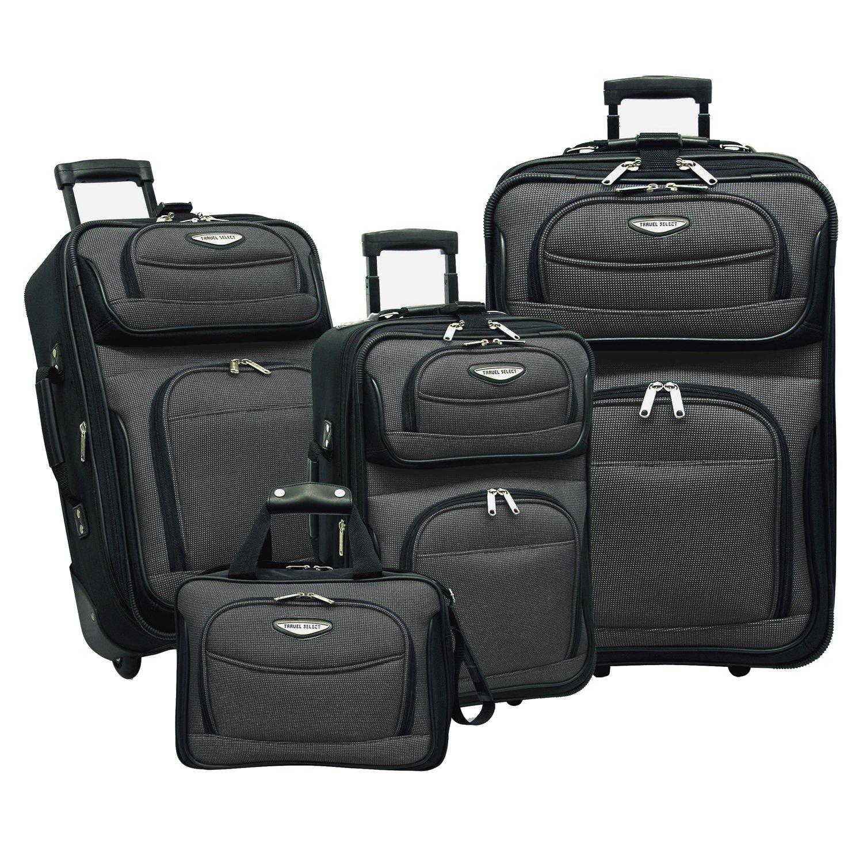 Traveler's Choice Amsterdam 4-Piece Luggage Set, Navy Travelers Choice TS6950N