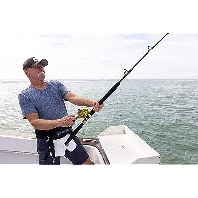 Sea Fishing Fighting Belt Rod Holder Stand Up Adjustable Belt Waist Rod Holder