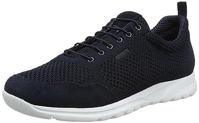 Geox U Damian B, Sneakers Basses Homme, Bleu (Navy), 39 EU