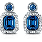 bc06f8cd9cc30b Yellow Chimes Swarovski Elements Divine Angelic Blue Hues Designer Crystal  Necklace Earrings Bracelet for Women