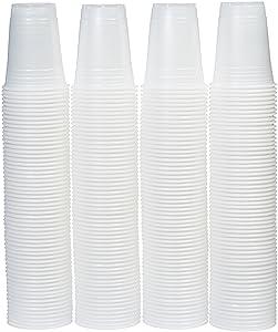 AmazonBasics 16oz Disposable Plastic Cups - 240-Pack, Translucent
