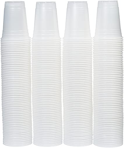 AmazonBasics 16oz Disposable Plastic Cups - 240-Pack, Translucent