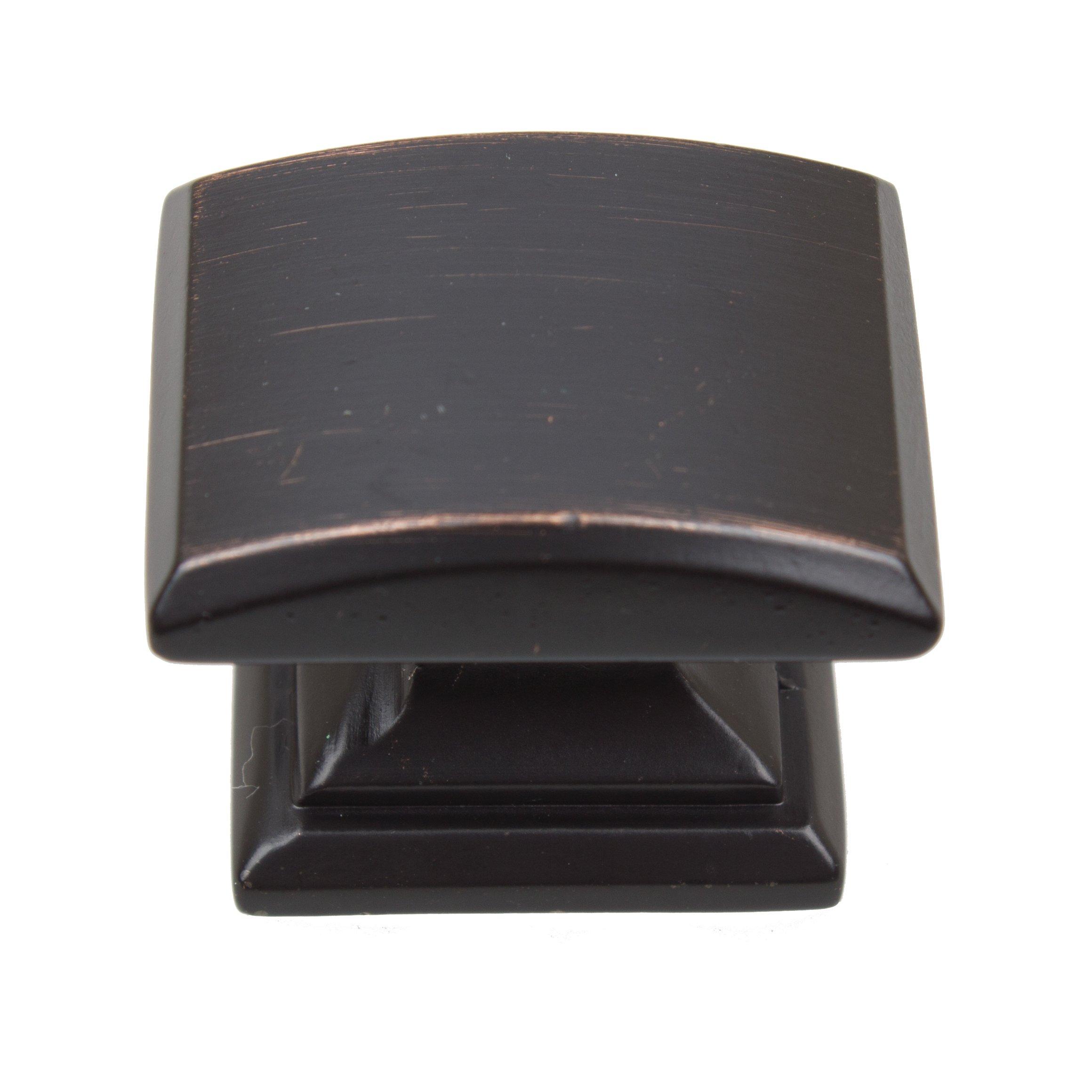 GlideRite Hardware 5740-ORB-10 1.25 inch Domed Convex Square Oil Rubbed Bronze Cabinet Knobs 10 Pack by GlideRite Hardware