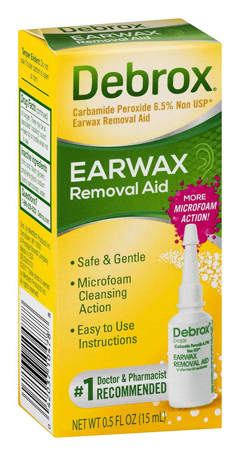 Debrox Earwax Removal Aid Drops | Safely and Gently Cleanses Ear | 0 5 FL OZ