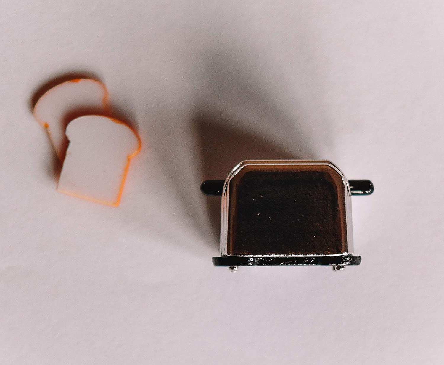 Macy Mae 1:12 Scale Dollhouse Metal Toaster. Picture Perfect Miniature Doll House Kitchen Accessory.